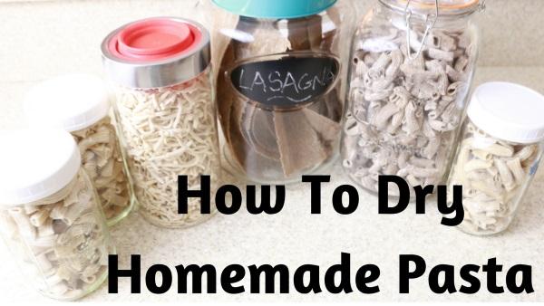 How To Dry Homemade Spelt Pasta