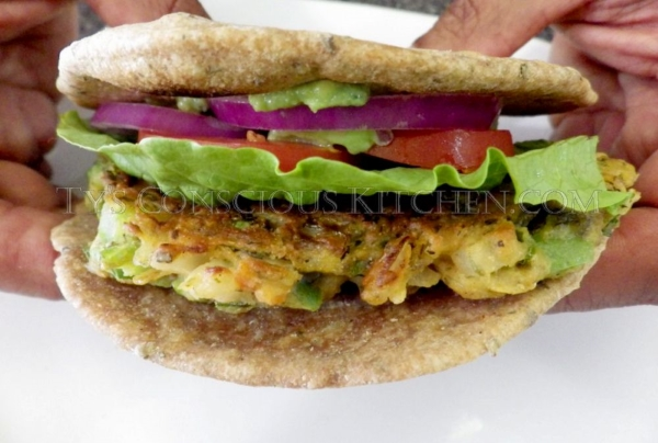 Alkaline Electric Chickpea Burger