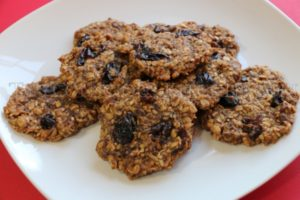 Alkaline Electric Spelt Meal Raisin Cookies