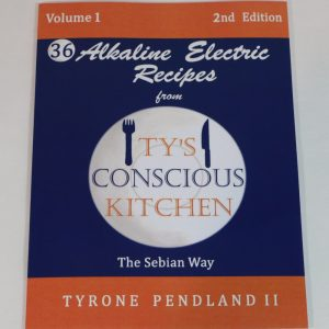 Vol. 1 Paperback: Alkaline Electric Recipes from Ty's Conscious Kitchen The Sebian Way