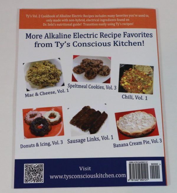 Alkaline Electric Recipes from Ty's Conscious Kitchen Vol. 2 Cookbook Back